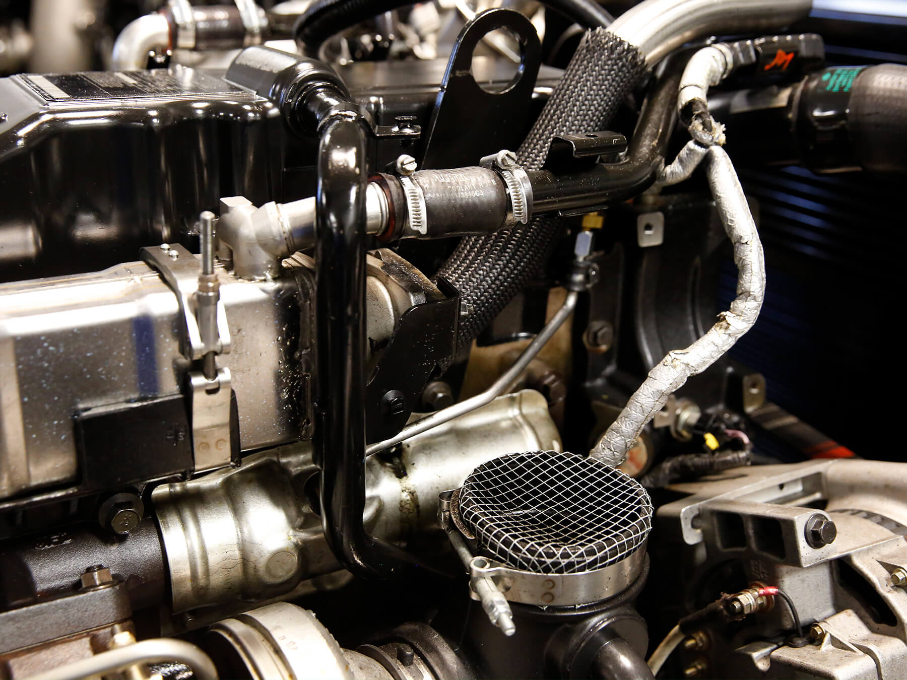 Close up photo of a Diesel engine