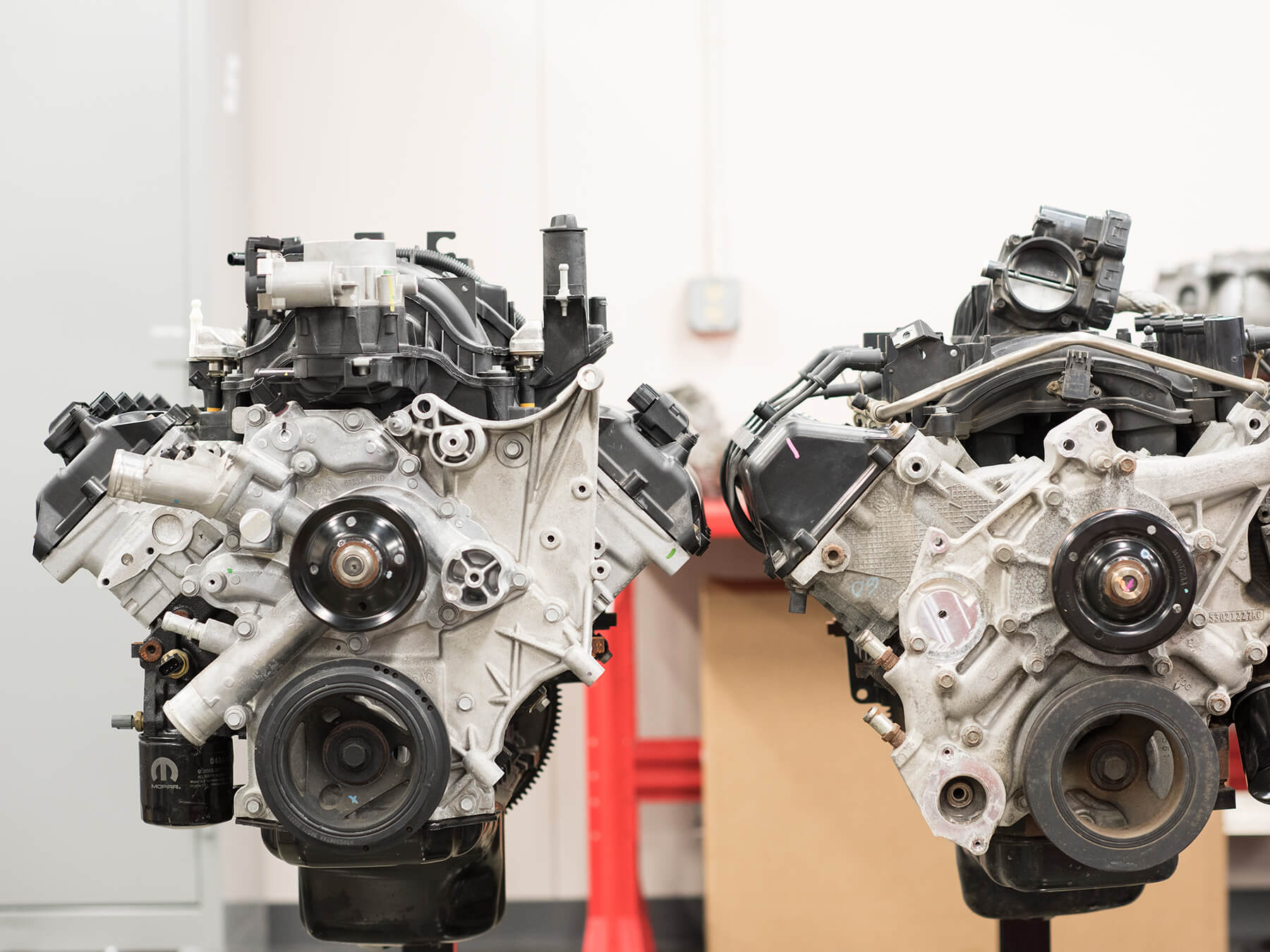 Photo of engines at Mooresville campus